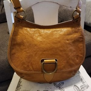 Frye Lucy crossbody in hard to find mustard color